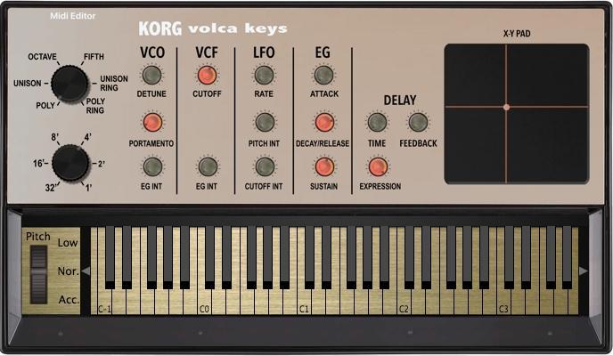 VST-Controller für Korg Volca Keys