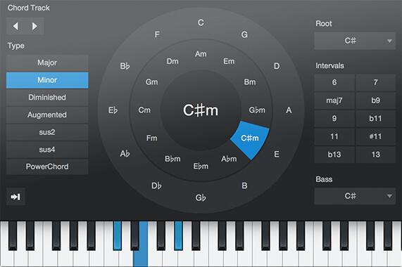 Mithilfe der neuen Akkord-Tools wird das Komponieren noch einfacher.