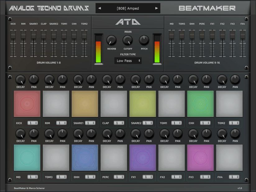 Beatmaker Analog Techno Drums
