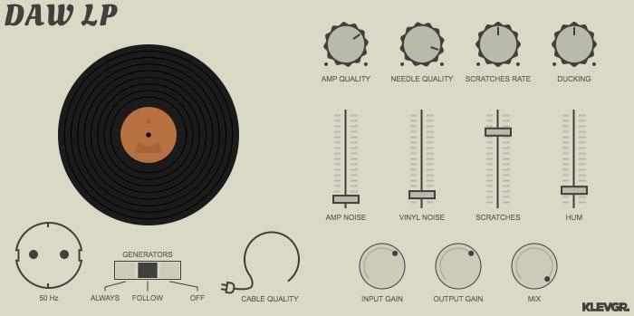 Klevgränd Produktion DAW LP