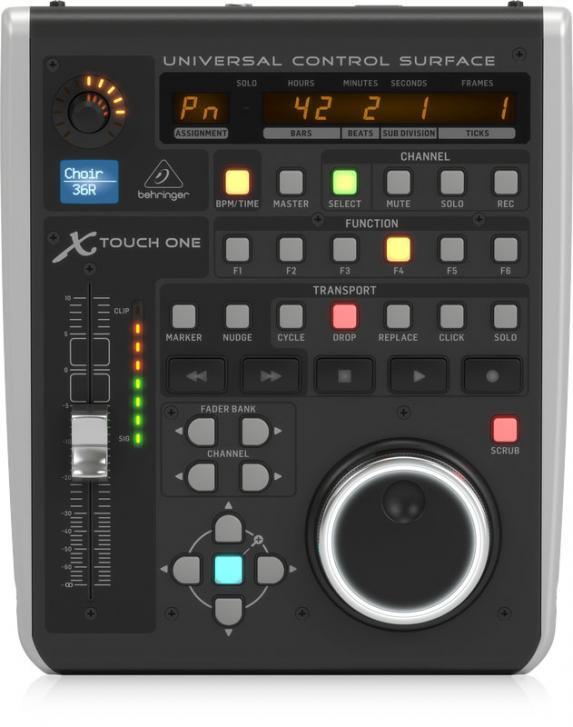 Der namensgebende einzige Fader ist berührungsempfindlich und motorisiert und wird von einem Encoder und einem Jog-Dial unterstützt.