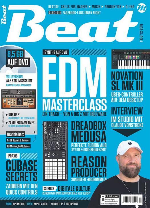 Die neue Beat 12|18 ist da: EDM Masterclass – Ein Track von A bis Z mit Freeware