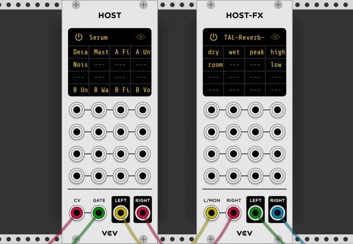 VCV Rack mit Plug-in-Schnittstelle