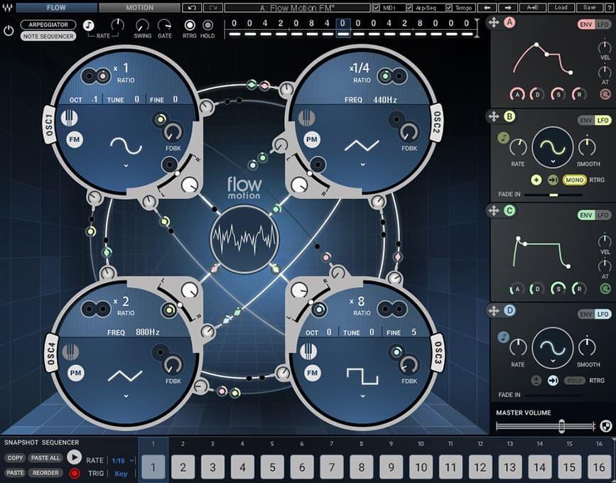Waves Flow Motion: FM-Synthesizer für Windows und Mac