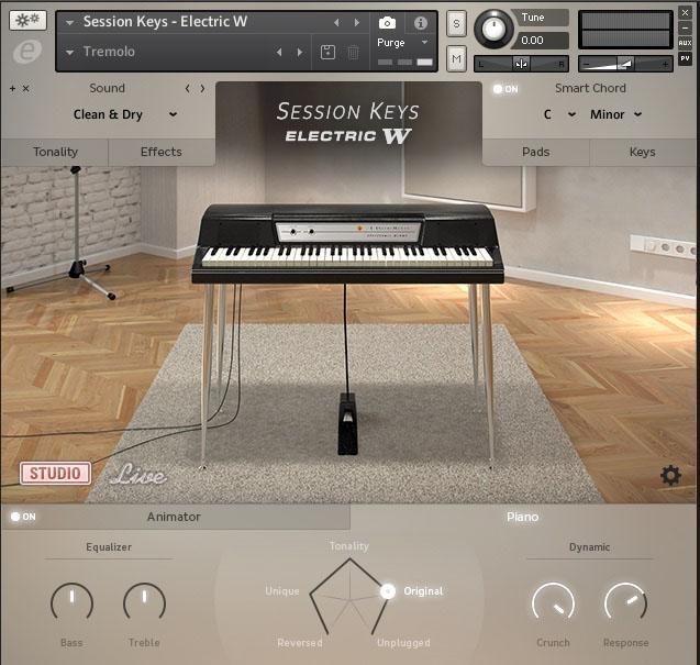 Mehr als eine simple Retro-Kopie: Mit den Smart Chords und dem Animator wird das virtuelle Wurlitzer zu einem Phrasen-Player der Extraklasse.