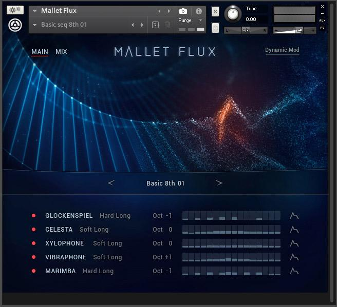 Von natürlichen Soloklängen bis zu cinematischen Ensemble: NI Mallet Flux ist ein Spezialist und kombiniert Samples und Sequenzer.