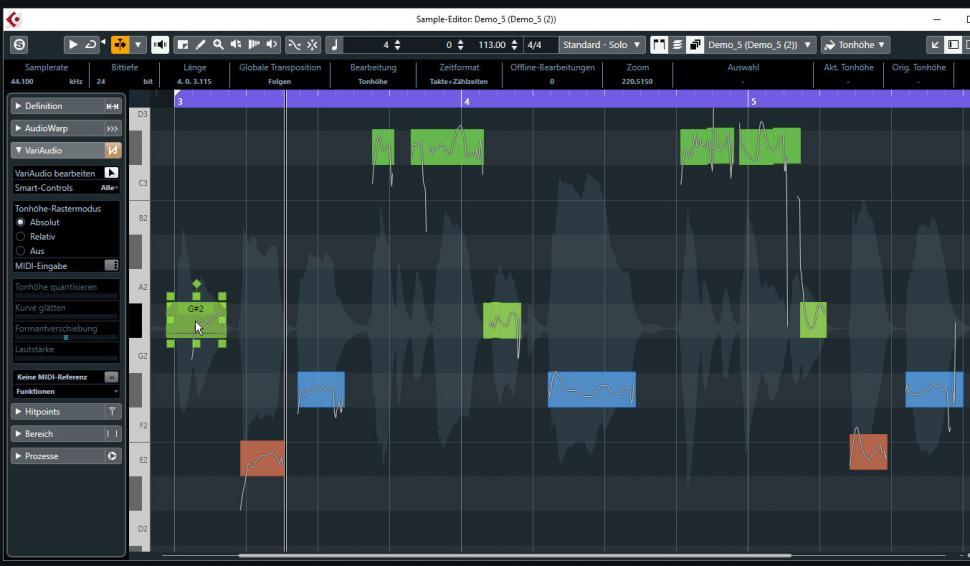 Schritt 5: Erste Harmoniestimme