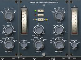 Lindell Audio 354E: Multiband-Kompressor mit Neve-Flair und M/S