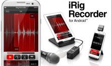 IK Multimedia iRig Recorder: Erste App für Android