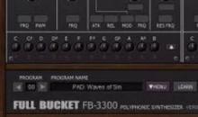 Freeware-Alarm: Full Bucket Music FB-3300 emuliert Korg-Synthie