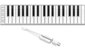 CME Xkey37 - Ultraflaches Midi-Keyboard