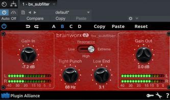 Kostenlos und unerwartet: brainworx bx_subfilter für Bass-Liebhaber