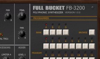 Full Bucket Music FB-3200: Kostenloser Synthesizer für Win und Mac